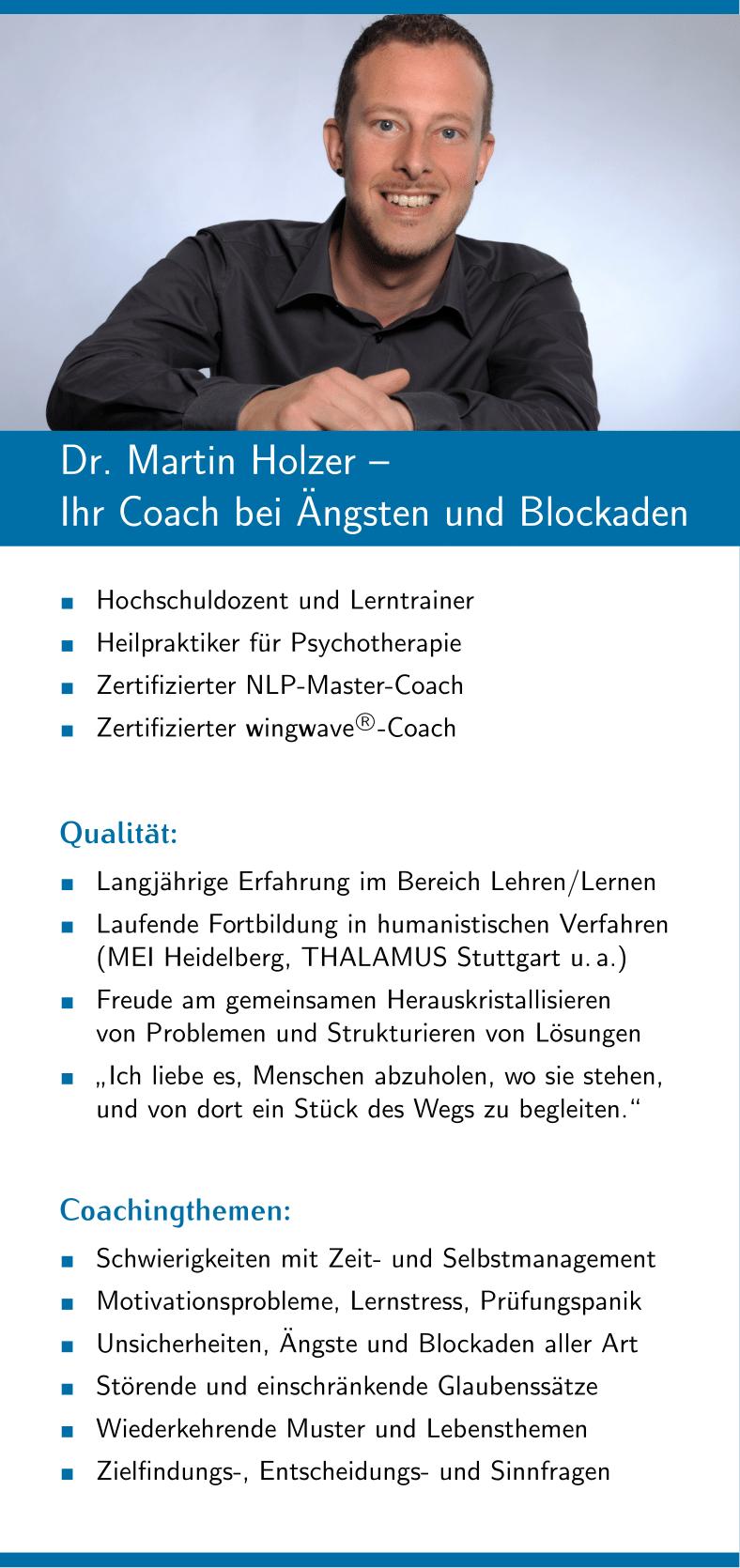 Dr. Martin Holzer